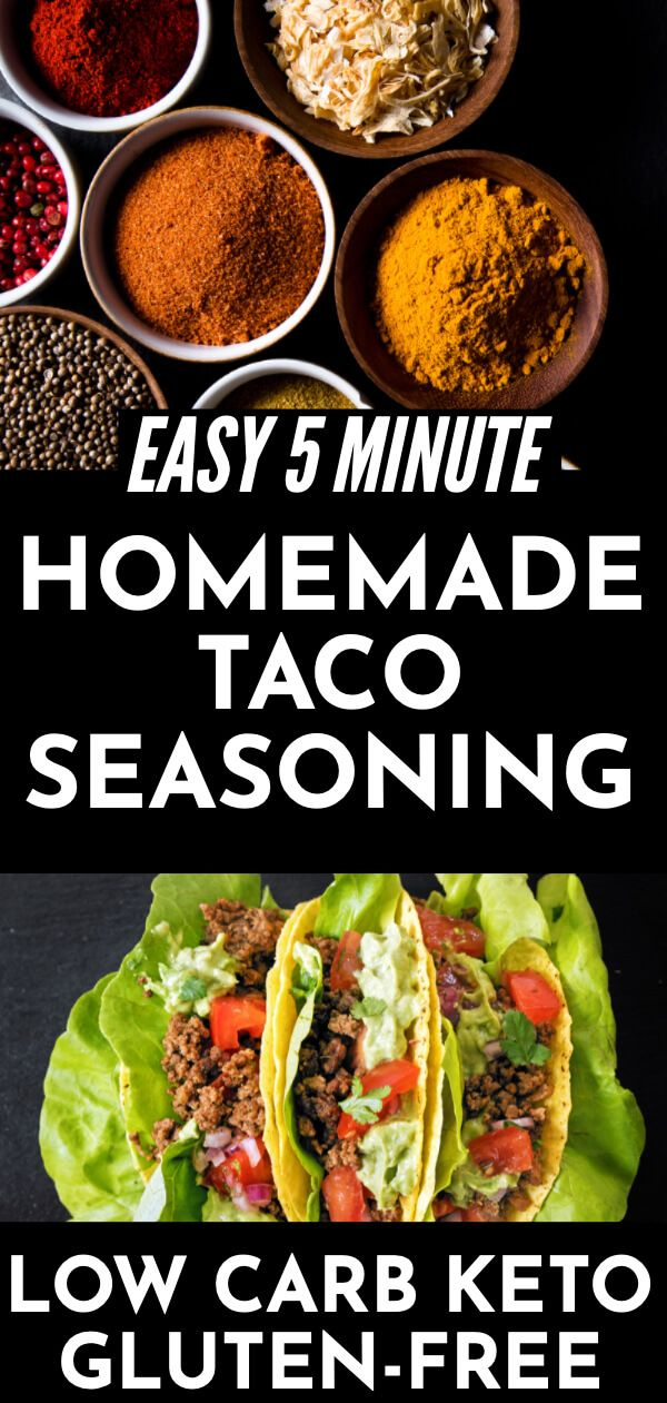 Healthy Homemade Taco Seasoning [Keto, Low Carb, Gluten-Free]