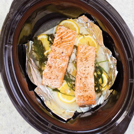 Slow-Cooker Poached Salmon | Recipe Box Creations