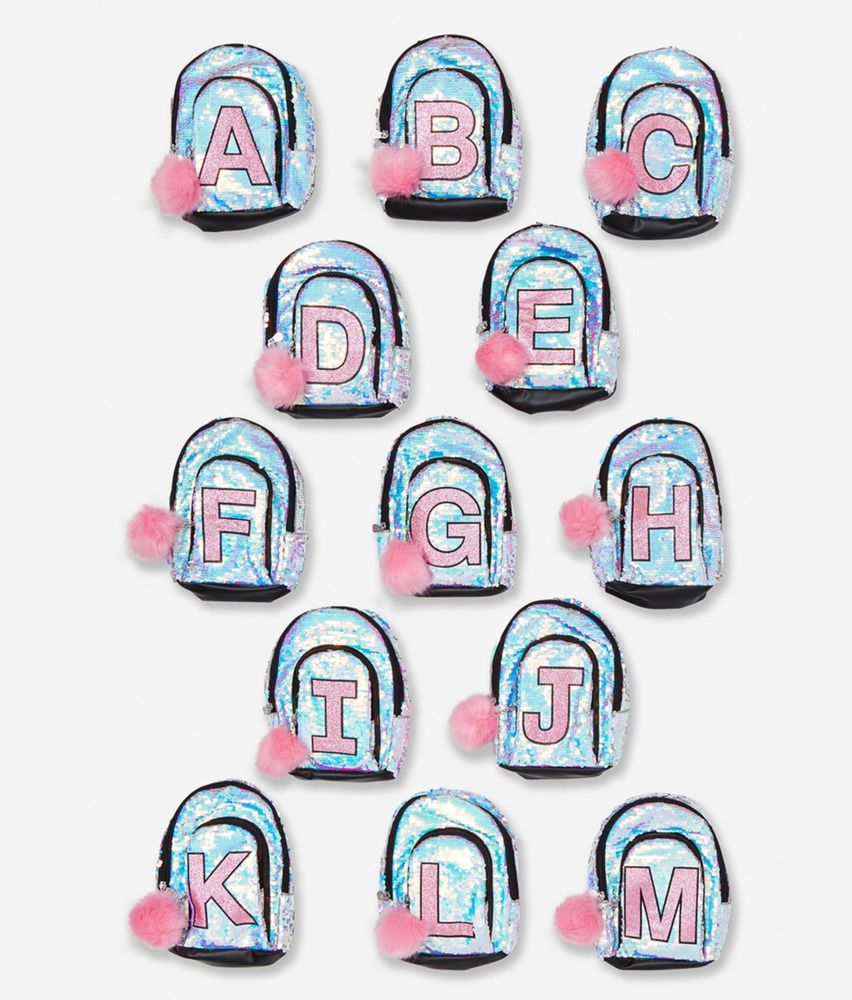 59bd6c936c74 Justice Girl s Iridescent Sequin Initial  D  Mini Backpack NWT  Justice   Backpack