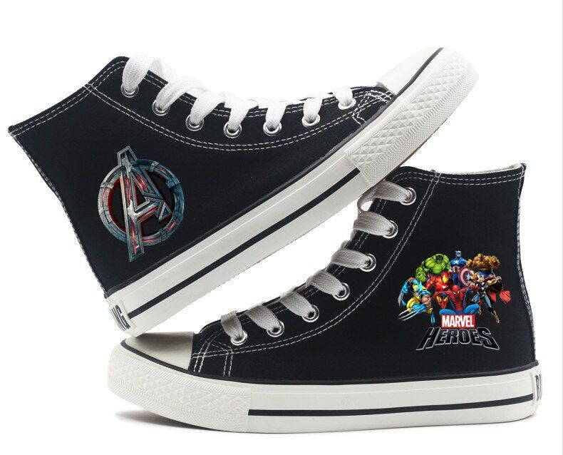 Marvel Avengers High Top Canvas Shoes Canvas Shoes Marvel Shoes Sneakers