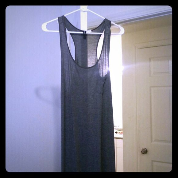 H&M Grey Maxi dress 12 Maxi dress from H&M, only worn once. Size 12 H&M Dresses Maxi