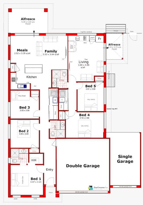 Discover Our Entire Range Of Dual Occupancy House Plans Designed For The Perth Metro Area From Single S Duplex Floor Plans House Plans Home Design Floor Plans