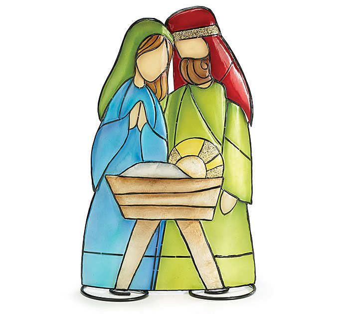 a 12 h tin nativity holy family tabletop christmas decor nativiti rh pinterest com holy family clipart images holy family clip art free