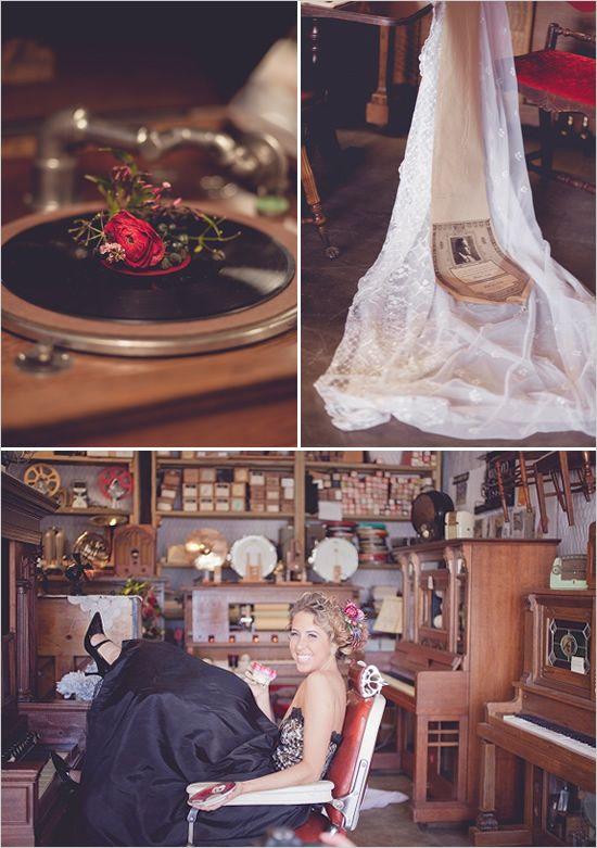 Vintage Musical Wedding Ideas