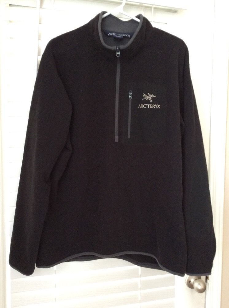 af0273cb90 Arcteryx Polartec Men's Black Fleece 1/4 Zip Pullover Size XL #Arcteryx  #CoatsJackets