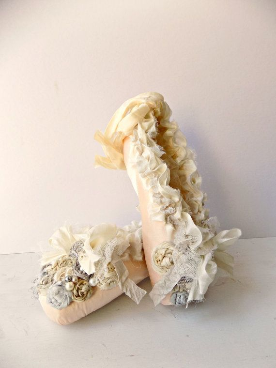 a704b56f5083 French Shabby Chic Ballet Shoes Home Decor