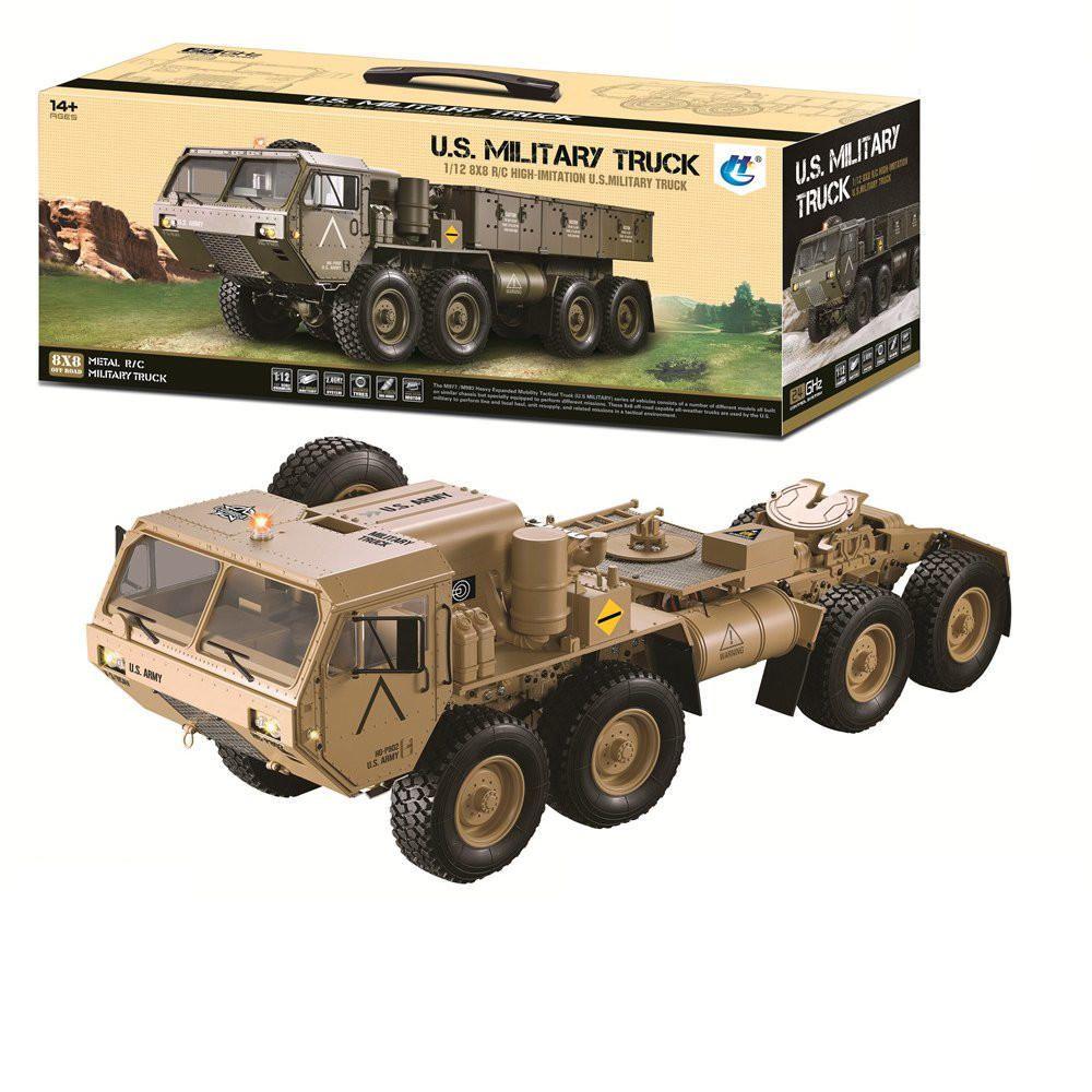 HG P801 P802 1/12 2.4G 8X8 M983 739mm Rc Car US Army