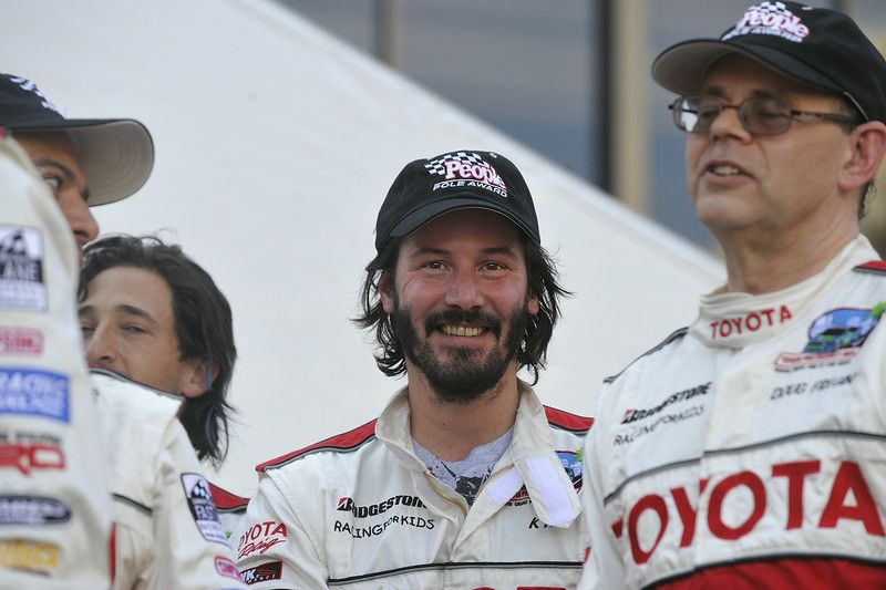 LONG BEACH, CALIF. -- Keanu Reeves after qualifying for the Pro/Celebrity Race during the Toyota grand Prix of Long Beach on April 17, 2009.  Photo by Jeff Gritchen/Long Beach Press-Telegram