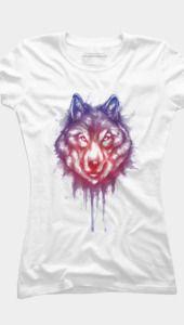 shading of wolf - Womens T-Shirt