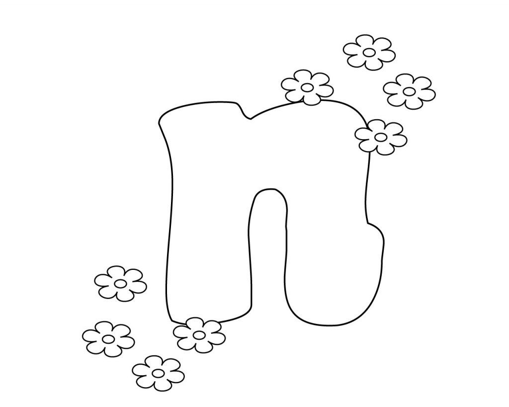 Lowercase Letter N Coloring Page Coloring Pages Free Coloring Free Coloring Pages