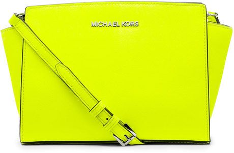 MICHAEL Michael Kors Yellow Medium Selma Messenger | Michael