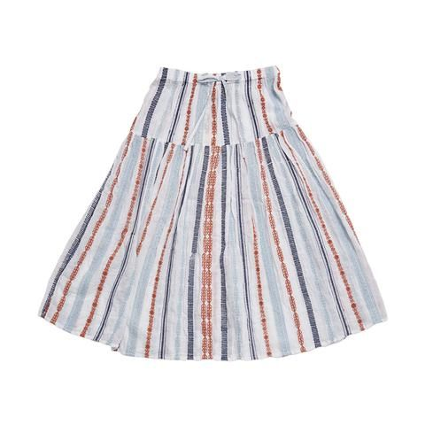 Feather Drum_Maxi Skirt - Arizona Stripe - The Child Hood