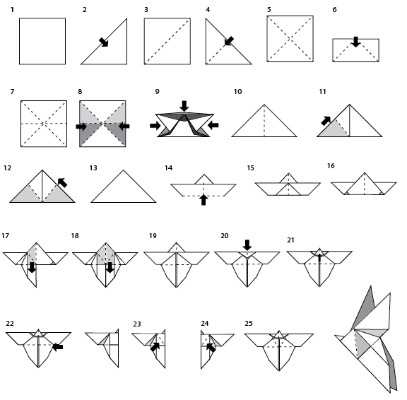 Origami Butterfly Instructions Cloth