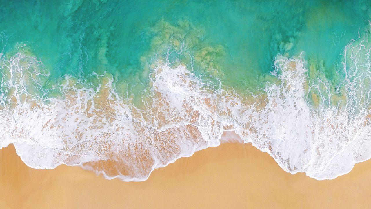 Ios 11 4k 5k Beach Ocean Horizontal Fondo De Pantalla Del Ordenador Portátil Mejores Fondos De Pantalla Para Iphone Fondo De Pantalla Macbook