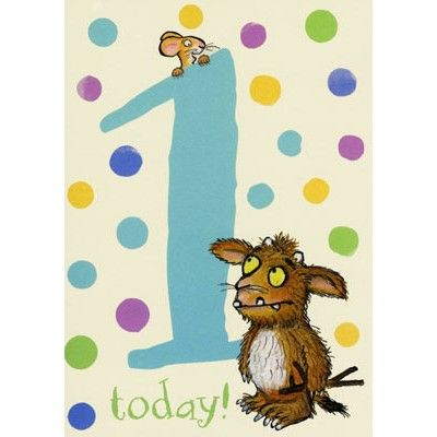 Boys First Birthday Card With A Number One And A Picture Of The Gruffalo S Child Priced At 2 05 First Birthday Cards Cards Kids Birthday Cards