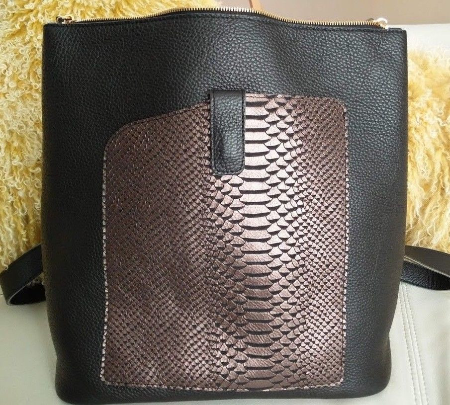 74dfab9206ff15 TERRIDA ITALY Veneto Pebbled Leather Luxury Travel Bag Slim Backpack Black  NWT #TERRIDA #Backpack