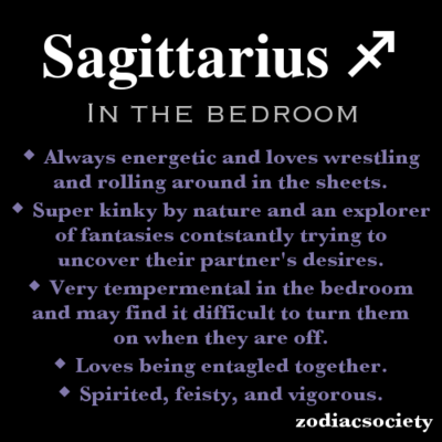 How good are sagittarius men in bed