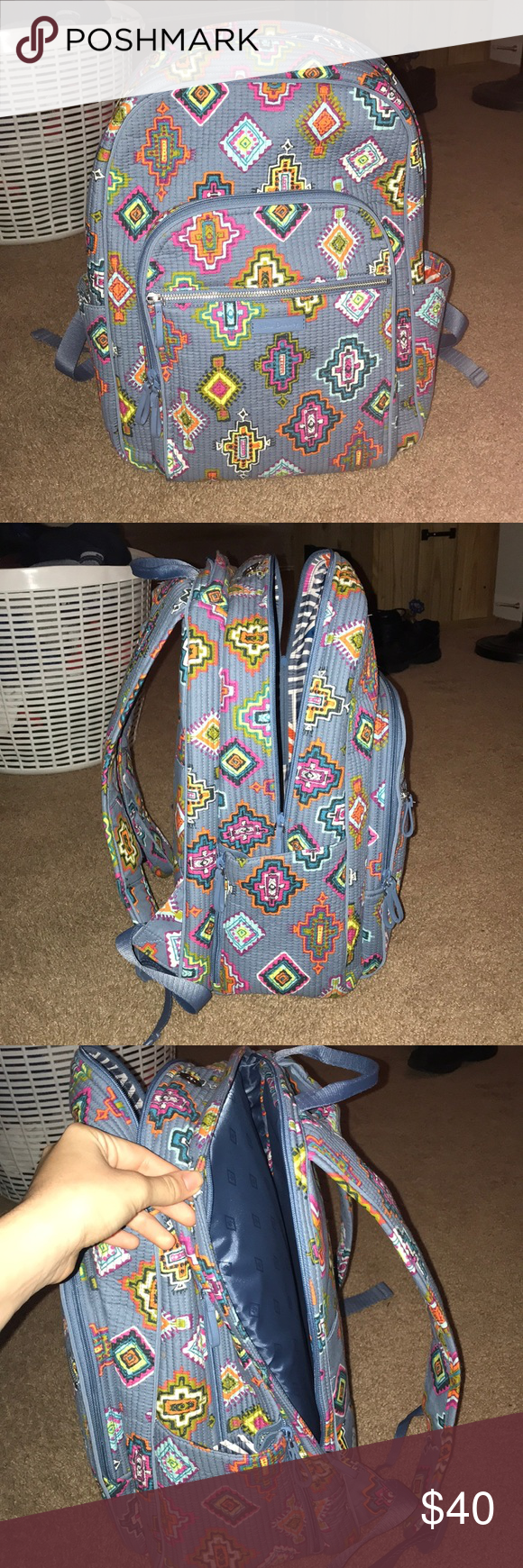 ec17801212 Vera Bradley Painted Medallions print Backpack Vera Bradley backpack with a  computer pocket. The side pockets unzip to expand. Vera Bradley Bags  Backpacks