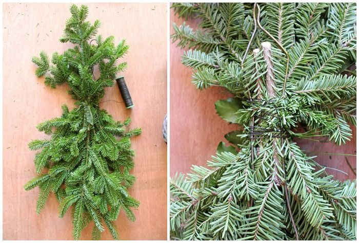How To Make A Christmas Swag Wreath Outdoor