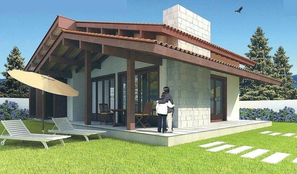 Fachada de casa terrea maquete eletronica 3d for Casas 3d