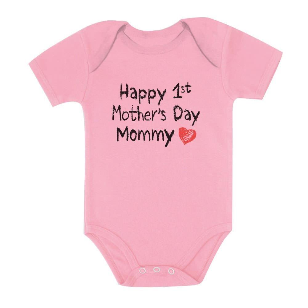 HAPPY 1ST MOTHER/'S DAY MUM MUMMY BABYGROW BABY GROW  ALL SIZES 1 ^