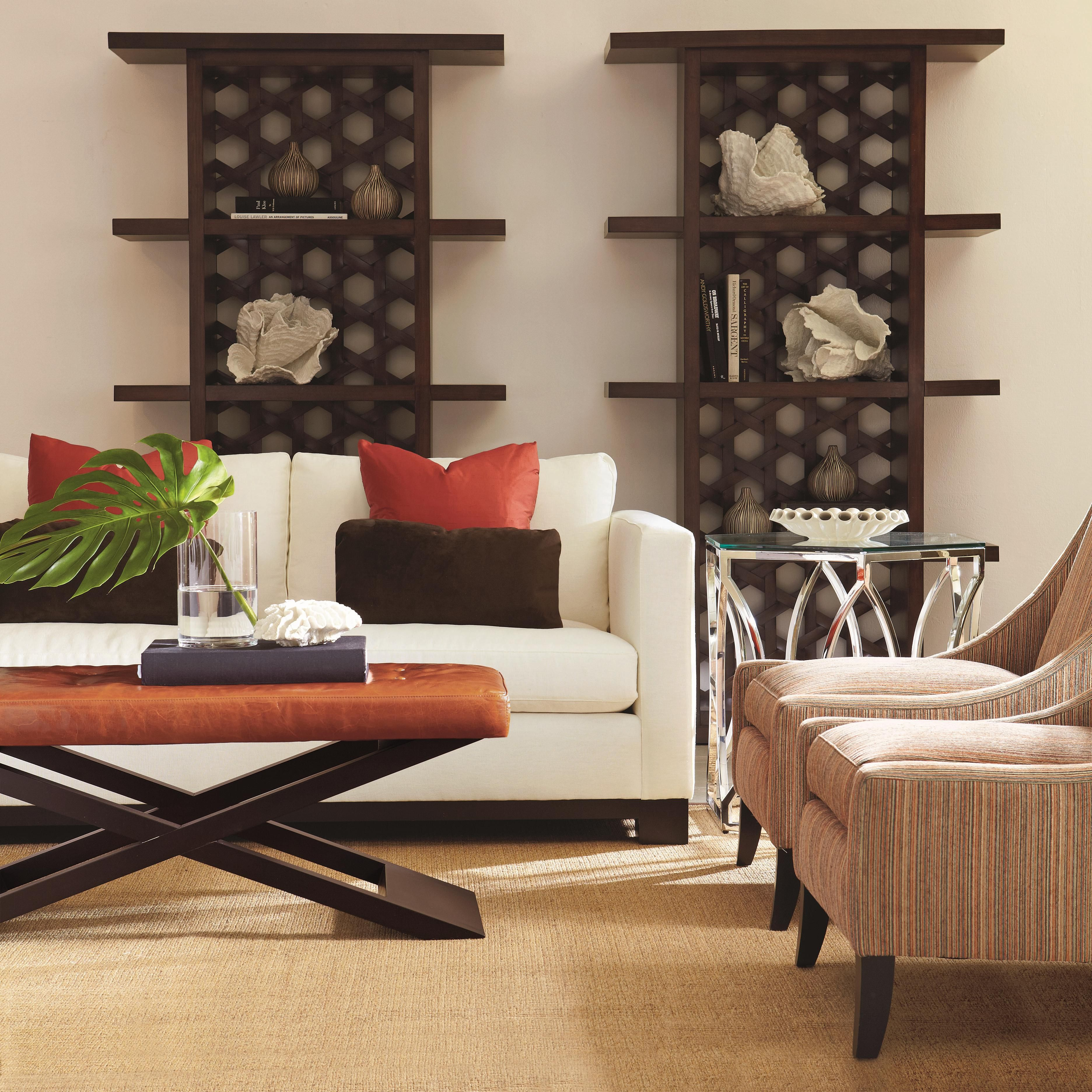 Lanai Modern Styled Sofa with Slight Asian Influence in Standard