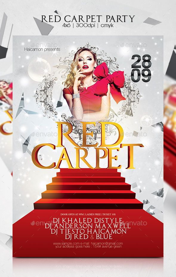 Red Carpet Party Flyer Template PSD | Buy and Download: http ...