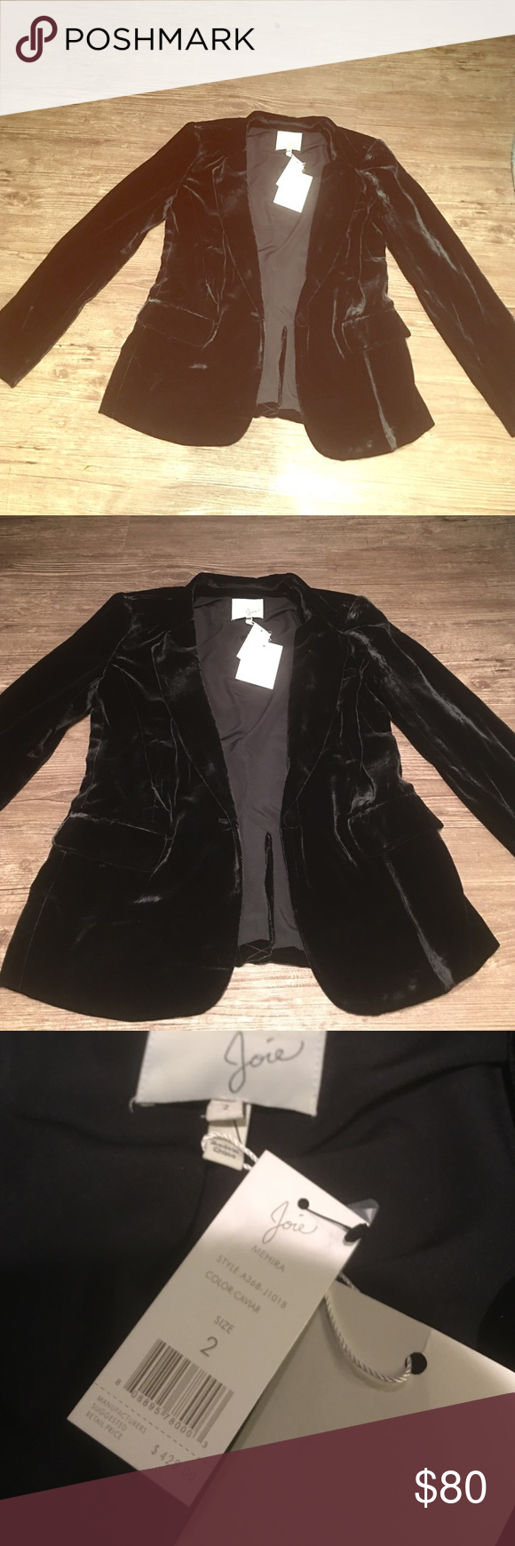Joie Black Blazer-high line designer!  🎀 Super soft blazer, black in color, size 2, perfect Christmas gift 🎁 I'm doing such a discounted rate! Take advantage while you can 💓 Joie Jackets & Coats Blazers