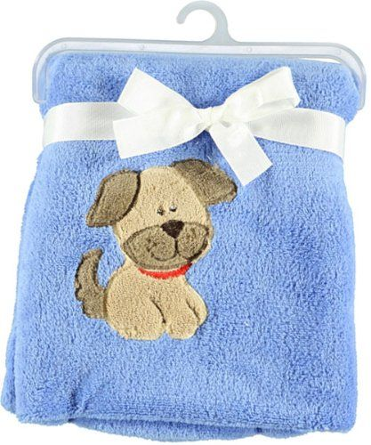 """Baby Starters """"Pupster"""" Cuddly Blanket – blue, « Clothing Impulse"""