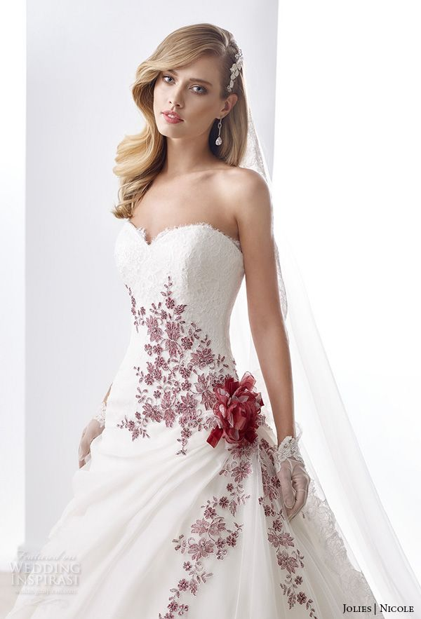 Nicole Jolies Collection 2016 Colored Wedding Dresses Wedding Inspirasi Wedding Dresses Red Wedding Dresses Colored Wedding Dresses