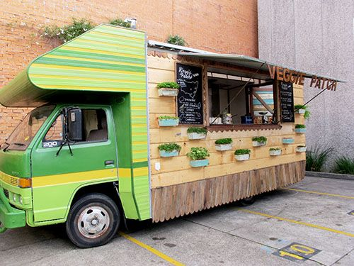 The Vegie Patch Van Named Spud 移動式屋台 フードトラックのデザイン キッチンカー