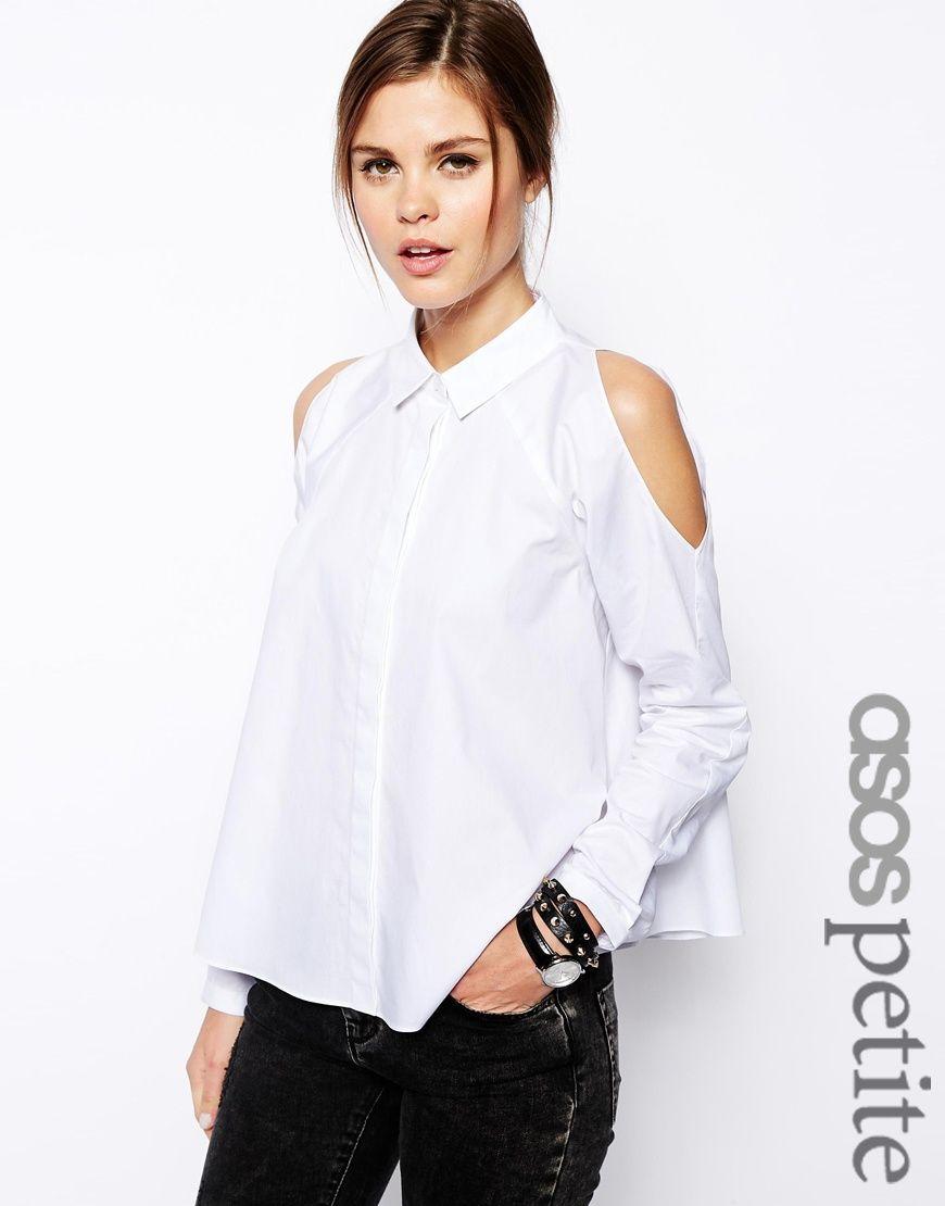 ropa deportiva de alto rendimiento materiales de alta calidad varios tipos de Camisa de manga larga con hombros descubiertos de ASOS ...