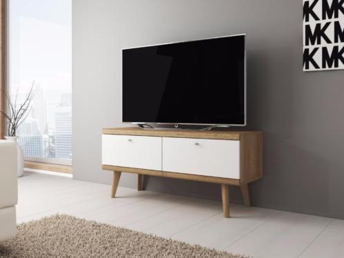 Tv Kast Nl : ≥ tv meubel primavera cm wit licht eiken tv kast