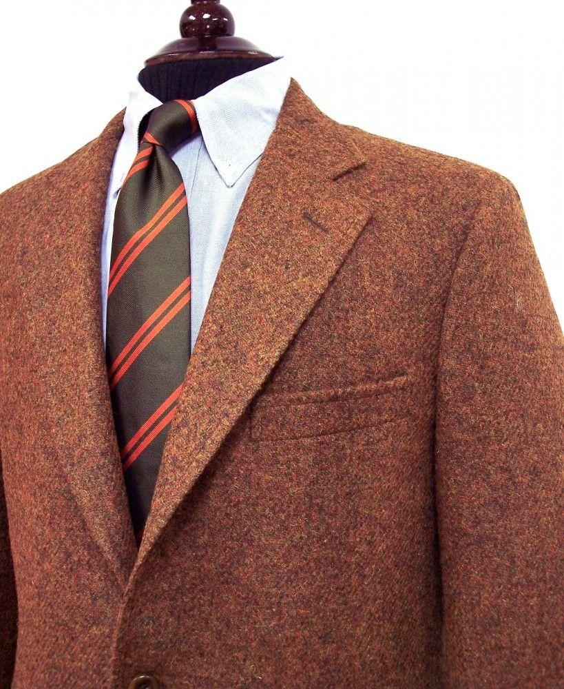 Southwick Sport Coat - Harris Tweed - Rust Olive Heather (97087)