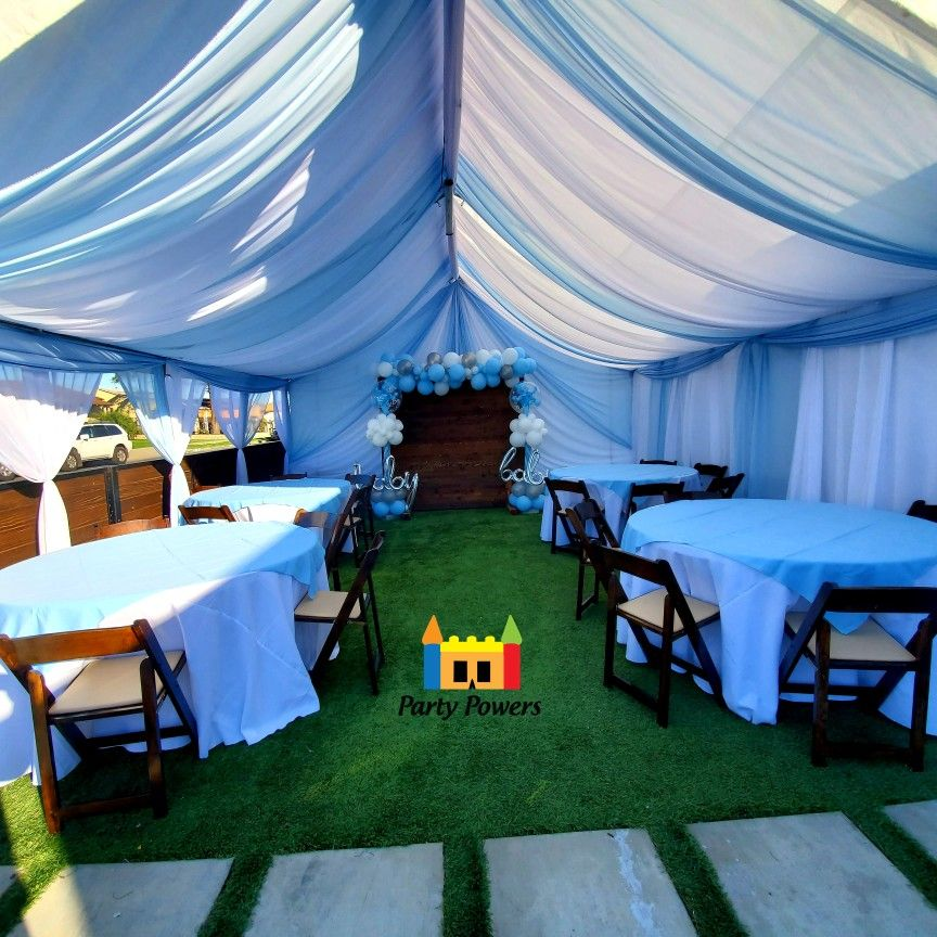 20x20 tent draping in 2020 water slide rentals bounce