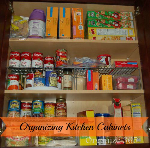 Organizing Kitchen Cabinets | Kitchen cabinet organization ...