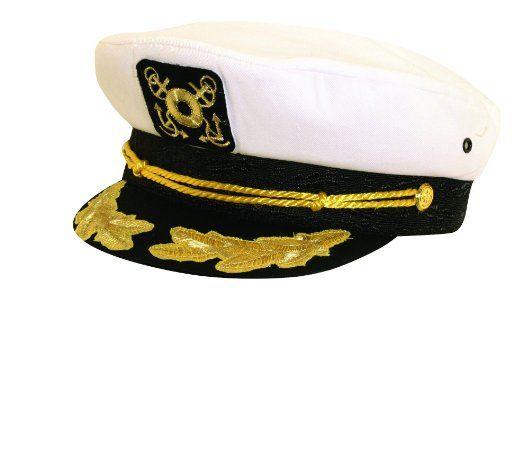 Amazon.com  Classic Nautical Captain s Hat by Dorfman Pacific (White)   Clothing 14916684547d