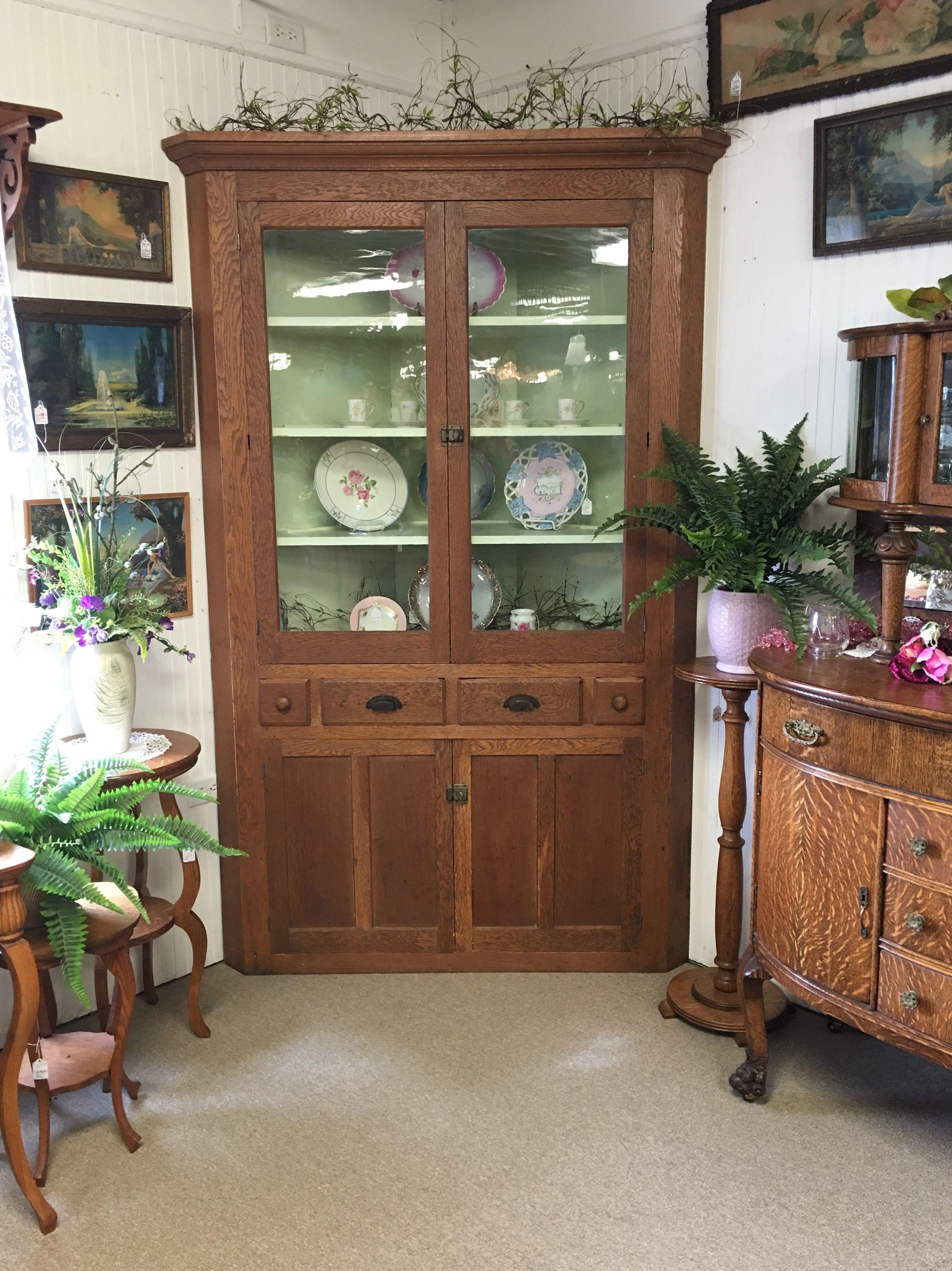 Sweet Old Corner Cabinet