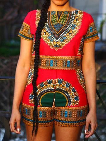 81ec4b2750 Dashiki Crop Top Shorts Set   African Fashion in 2019   African ...
