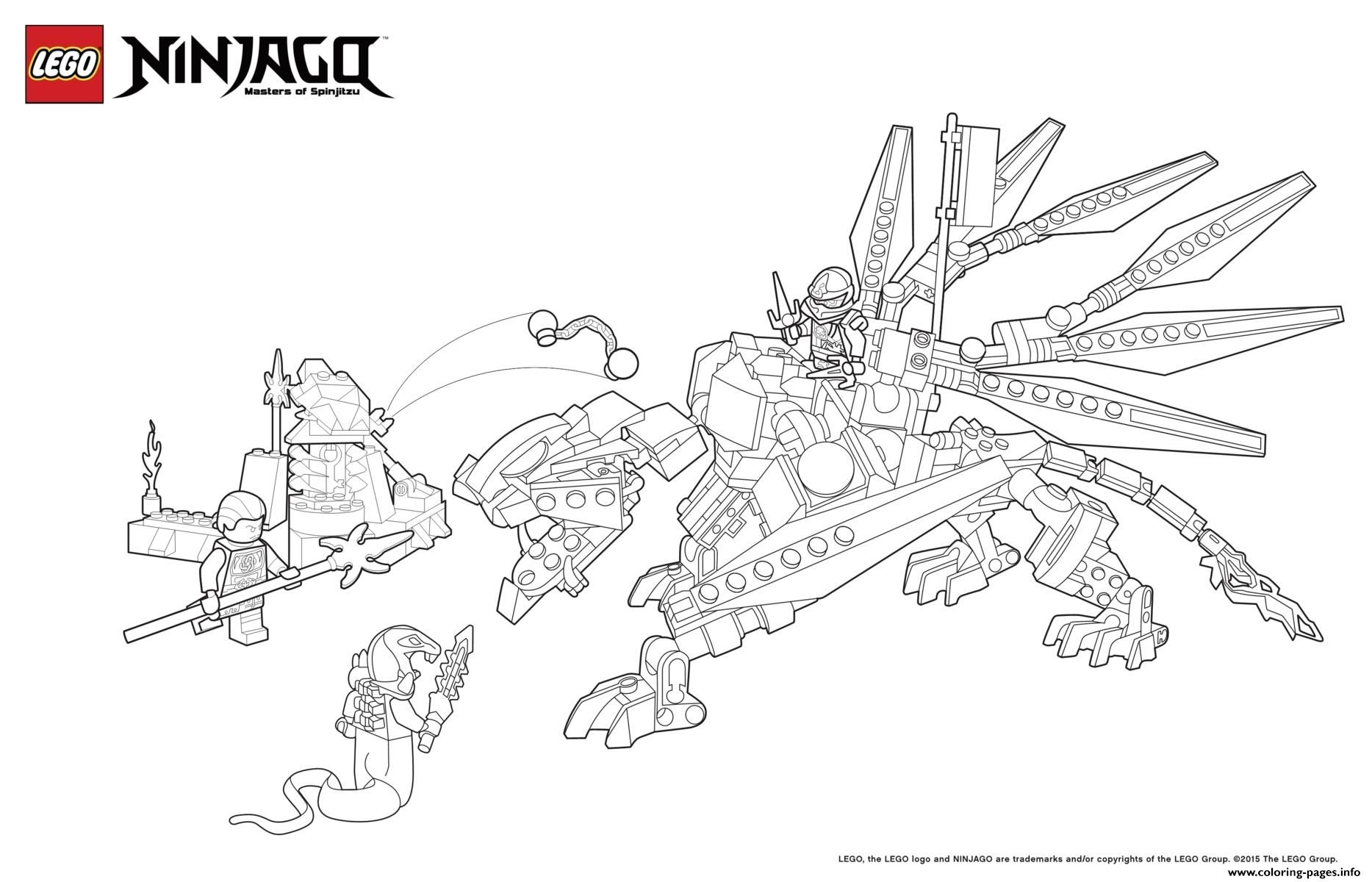 Print Dragon Ninja Attack Enemy Lego Coloring Pages Weihnachtsmalvorlagen Vogel Malvorlagen Ausmalbilder