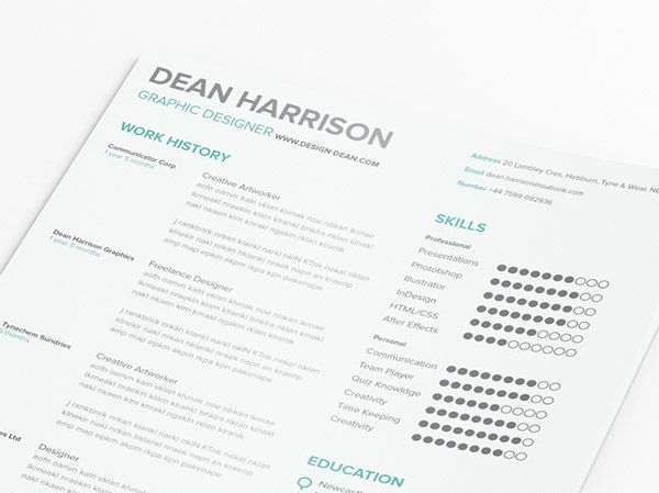 20 Free Editable CV\/Resume Templates For PS \ AI Simple Resume   Update  Update Resume Free