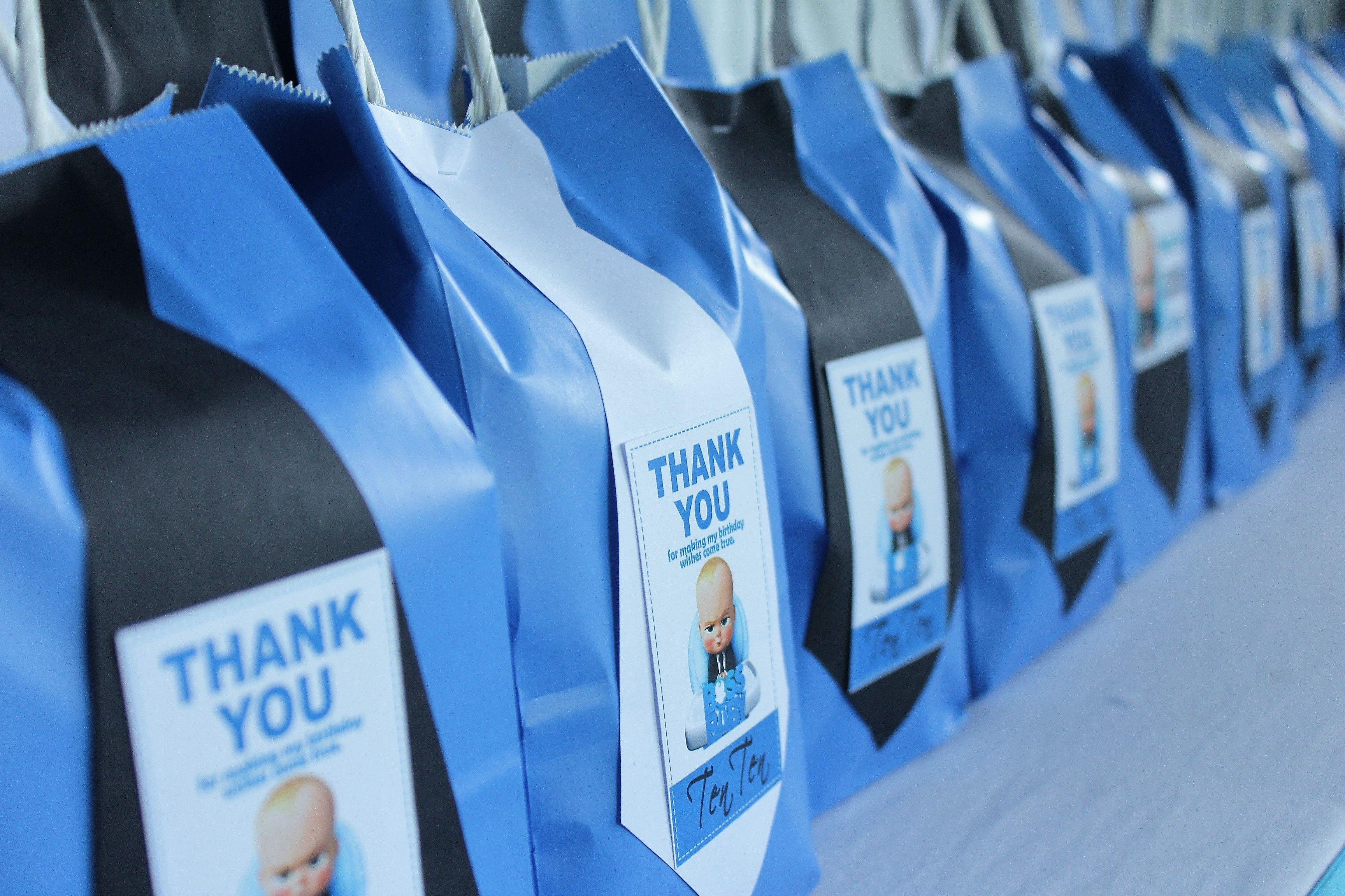 Boss Baby Gift Bags Feestdagen En Evenementen Feestdagen