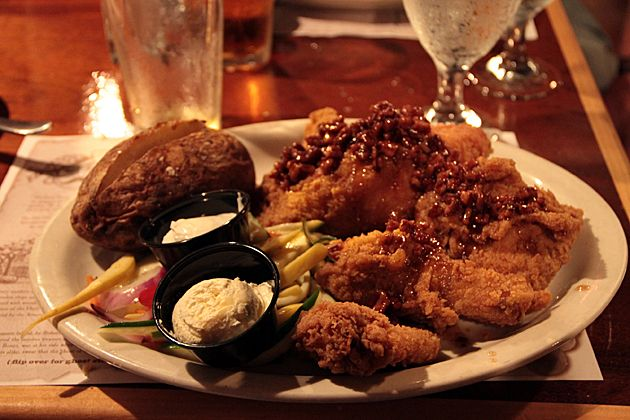 honey pecan fried chicken from the pirate's house in savannah, ga