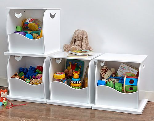 Stacking Open Toy Storage Trunk At White Wooden Cube To Clear Your Clutter The Large Scooped Opening