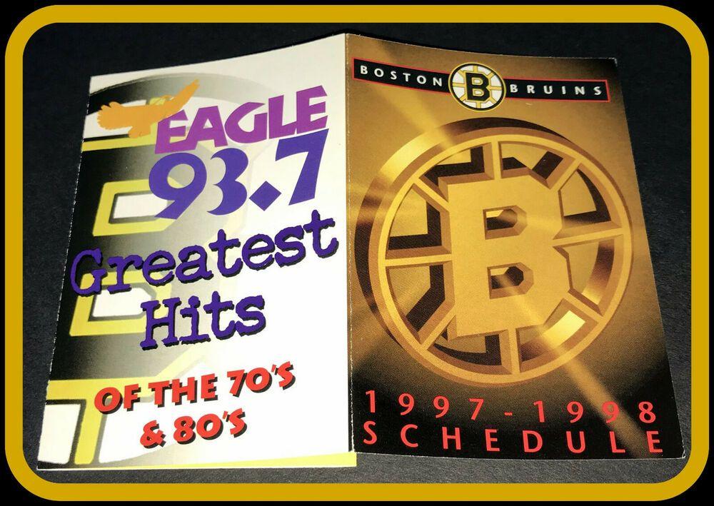 199798 BOSTON BRUINS EAGLE 93.7 RADIO HOCKEY POCKET