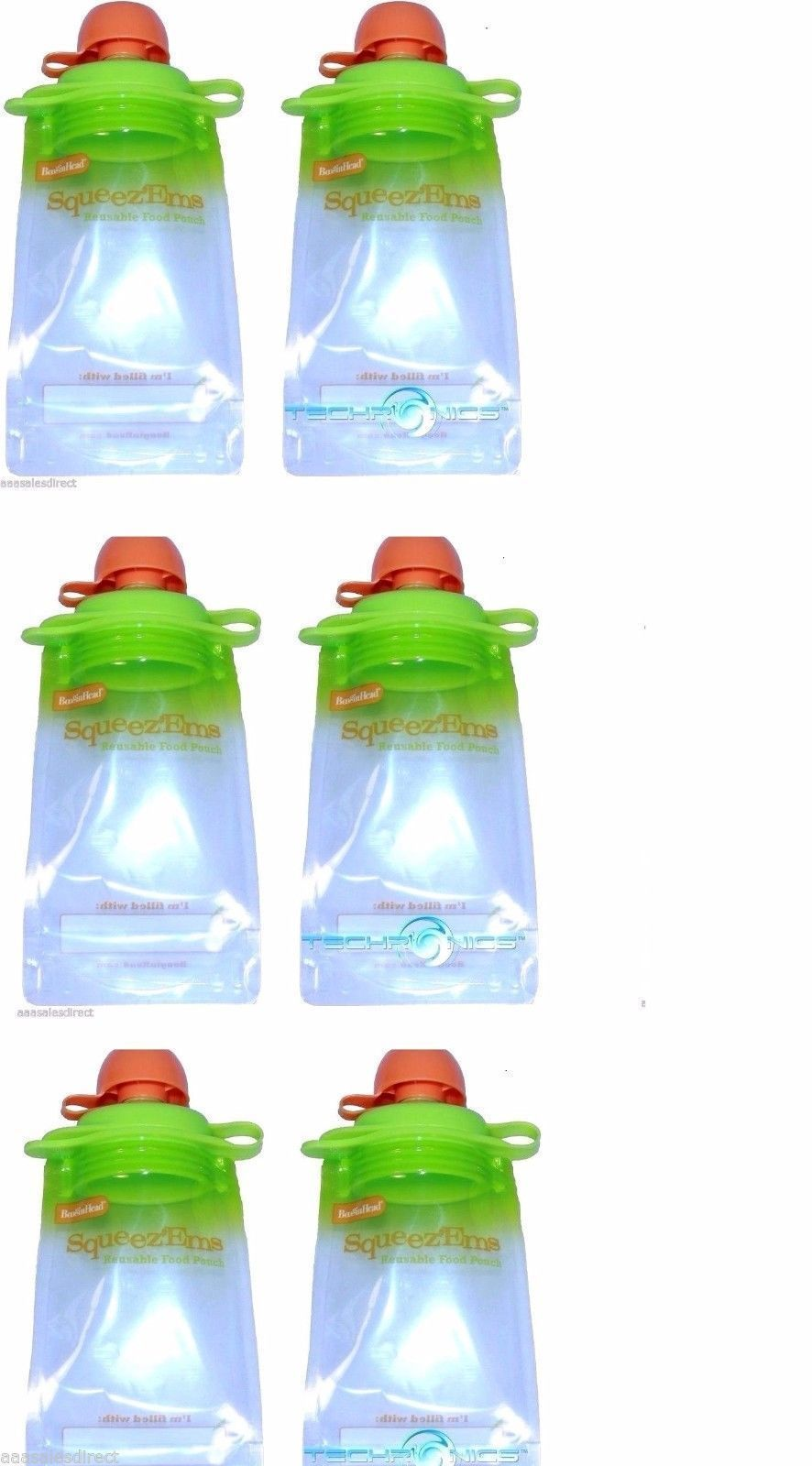Booginhead Squeez/'Ems Reusable Homemade Baby Food Snack Smoothie Pouches 10 PACK