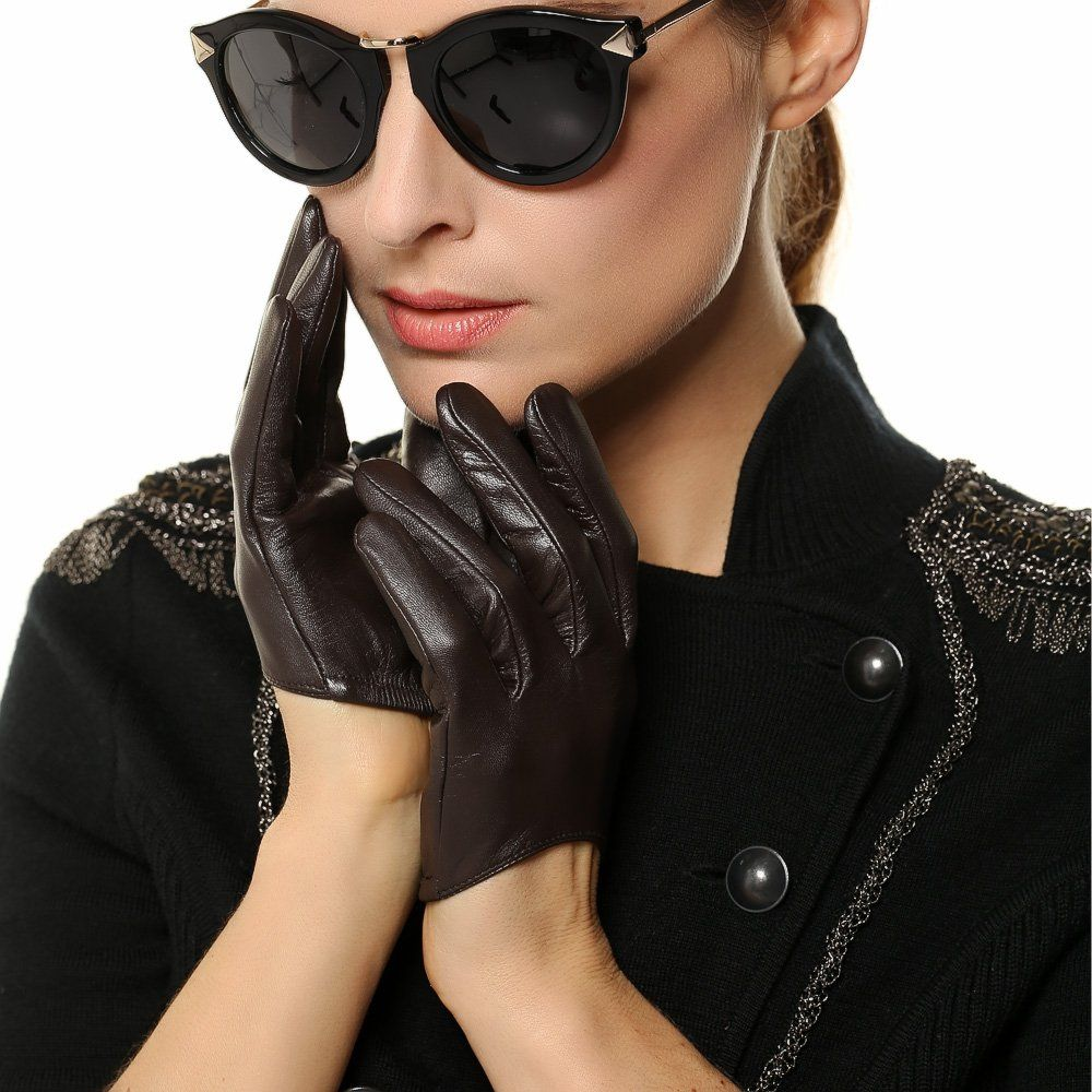 f1ee4b97b WARMEN Sexy Classic Lady's Finger Half Leaher Backless Gloves (S, Black) at  Amazon Women's Clothing store: Cold Weather Gloves