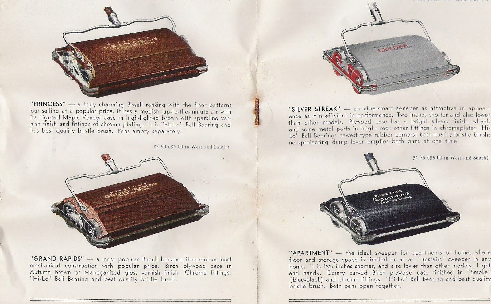A vintage #Bissell carpet sweeper catalogue. Date: unknown ...