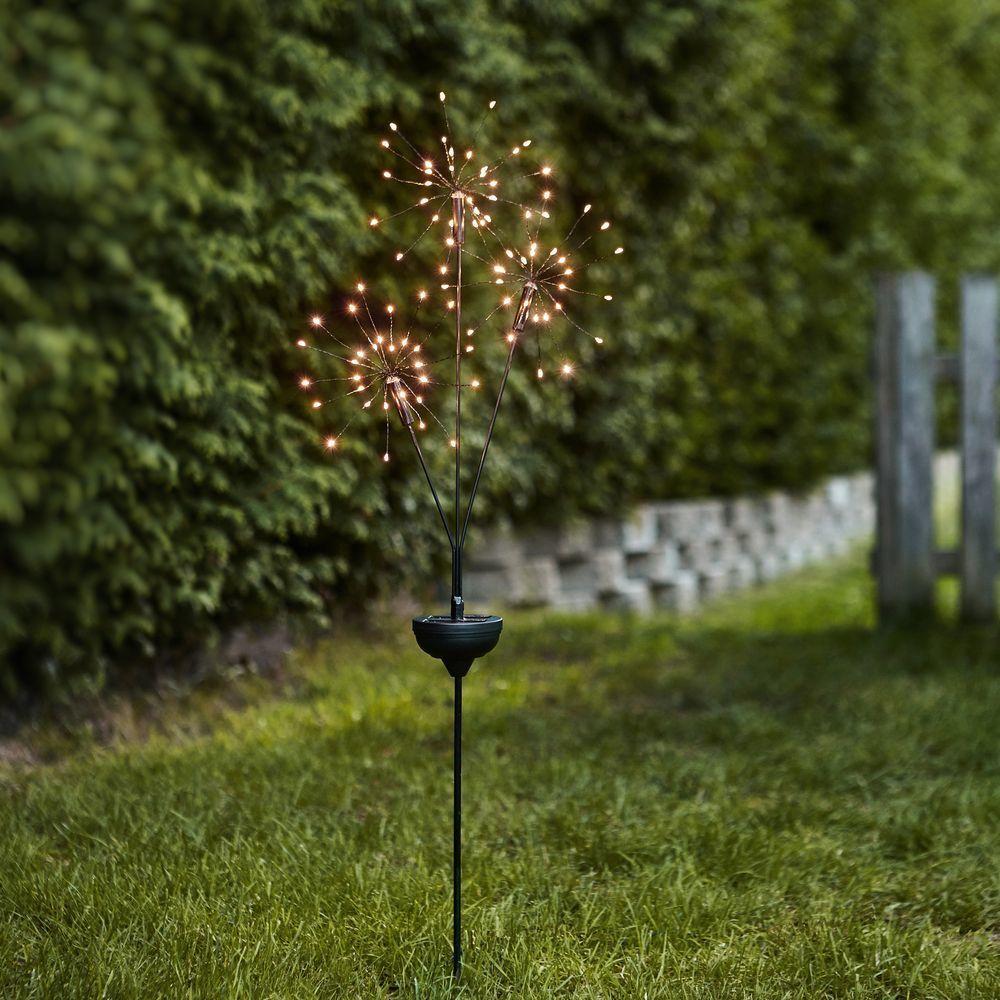 Led Solarleuchte Firework In Schwarz 3x30 Leds Warmweiaÿ Best Season 480 53 Led Solarleuchte Solarleuchten Led