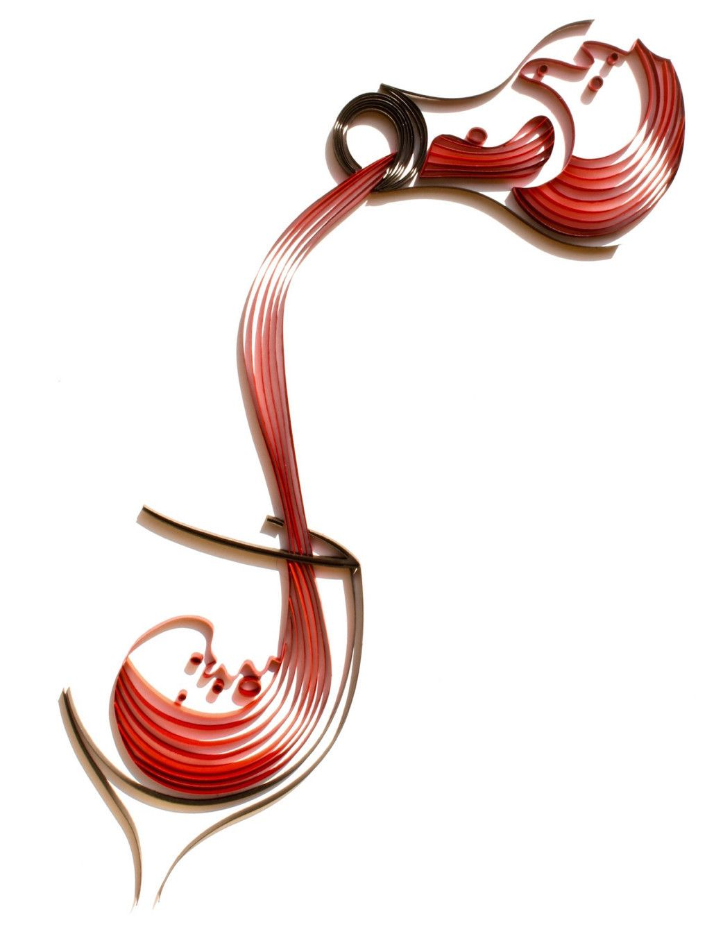 Strands of paper are quilled to form this beautiful silhouette of red wine  being poured into a wine glass. The glistening red hues of the pouring wine  adds ... b6e22805cec4
